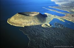 Kenya, the Lake Turkana with its volcanic crater