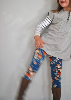 floral leggings and tunic [ day three of the kids' clothes week challenge on elsie marley]