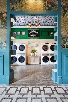 Best Indoor Garden Ideas for 2020 - Modern Laundromat Business, Laundry Business, Cleaning Business, Laundry Shop, Coin Laundry, Le Corbusier, My Beautiful Laundrette, Rustic Coffee Shop, Commercial Laundry