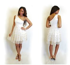 Satin/ Organza Asymmetric A-line Dress for your Homecoming