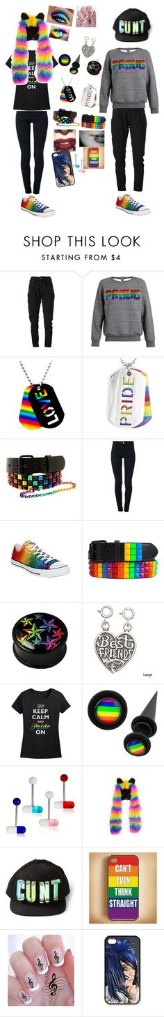 """Im bisexual and I have a gay bestie"" by savvy-setter ❤ liked on Polyvore featuring Diesel Black Gold, Ashish, Tag, West Coast Jewelry, STELLA McCARTNEY, Converse, Adeen and Longchamp"