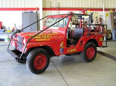 "Ingham Township Fire Department Brush Fire #Jeep named ""Li'l Squirt"""