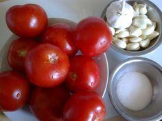 Cesnakovoparadajková zmes bez konzervovania (fotorecept) - obrázok 1 Vegetables, Food, Essen, Vegetable Recipes, Meals, Yemek, Veggies, Eten