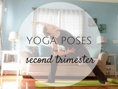 Second trimester already? Here are a few of the best yoga poses for the second trimester. Click through to read now and practice later.