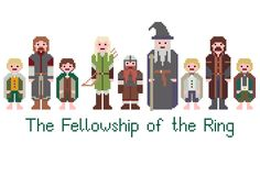 Lord Of The Rings Cross Stitch Pattern (PDF). £2.75, via Etsy.