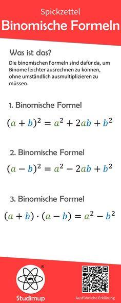 Binomische Formeln Spickzettel Mathe Spickzettel Math cheat sheet on the topic of binomial formulas Math Cheat Sheet, Cheat Sheets, Simply Learning, Pythagorean Theorem, Fun Math Games, Rudolf Steiner, Positive Reinforcement, Formulas, Elementary Science