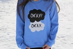 The Fault In Our Stars Okay Okay Blue by PerksOfBeingAWeasley, $30.00