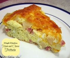 4 point ham/cheese/potato frittata for breakfast, lunch or dinner; great to make ahead for a busy week