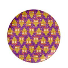 Blue and Orange Owl Pattern Dinner Plates $28.10