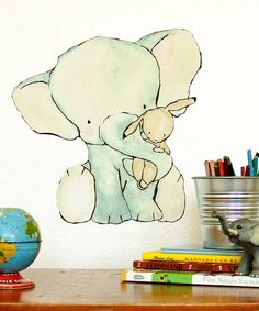 Take a look at this Elephant Hug Wall Decal by trafalgar's square on #zulily today!