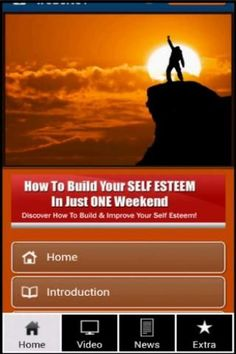 This application give you an information about how to build and Improve your self esteem!<p>Is Low Self-Esteem Keeping You from Achieving Your Hopes, Dreams & Goals, or Making You Feel Inferior, Unimportant And Unworthy?<p>It Doesn't Have To Be That Way A