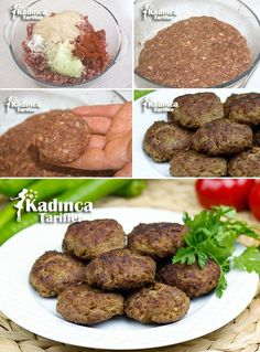 Soft Meatball Meatball Rezept mit Tricks - puf noktalariylan et kofte - Gesunde Essen Meatball Recipes, Meat Recipes, Snack Recipes, Cooking Recipes, Iftar, Meat Dumplings Recipe, Meat Steak, Good Food, Yummy Food