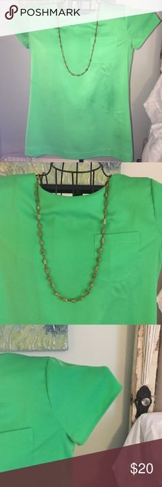 Green Jcrew silk blouse Green Jcrew silk blouse with button closure. Stunning color! Looks great in winter with a cardigan or summer by itself. Fabulous item to have in your closet. Jcrew Tops Blouses