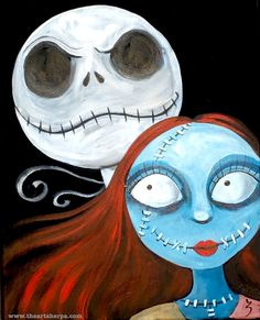 Nightmare before Christmas Acrylic Paintings - Fresh Nightmare before Christmas Acrylic Paintings , Jack and Sally Skellington Painting On Canvas Fan Art for the Acrylic Painting Tutorials, Painting Techniques, Diy Painting, Painting & Drawing, Acrylic Paintings, Painting Doors, Interior Painting, Painting Hardware, Christmas Canvas
