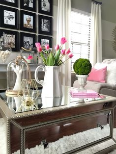 Mirrored coffee tables instantly add a touch of glam to my decor! With so many to choose from at HomeGoods, it's hard to settle on just one! Mirrored Coffee Tables, World Of Interiors, Apartment Living, Decoration, Living Area, Living Rooms, Home And Living, End Tables, Home Goods