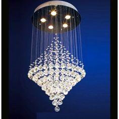 Modern 5 lights top-shaped genuine clear crystal chandelier light fixtures
