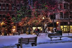 Snowy Night, New York City❤️