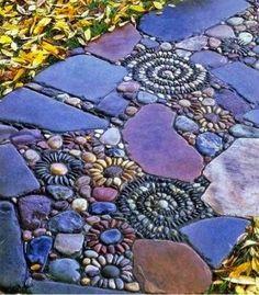 Create A Pebble Mosaic   -- Don't miss out! Follow DIY Fun Ideas on facebook: www.facebook.com/diyfunideas