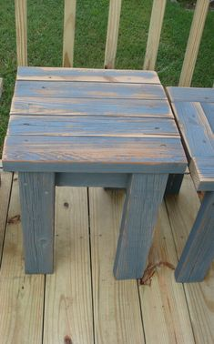 simple bench made from make an easy reclaimed lumber outdoor table outdoor table. Outdoor End Tables, Diy End Tables, Diy Table, Pallet Table Outdoor, Pallet Tables, Wooden Outdoor Table, Outdoor Stools, Make A Table, Porch Table