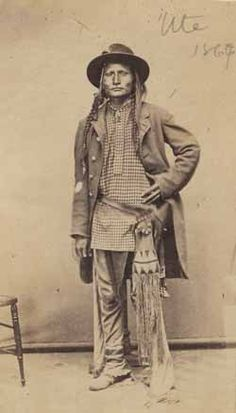 Ute man, Carte de visite by C. Native American Pictures, Native American Beauty, Native American Tribes, Native American History, American Indians, American Symbols, American Women, Native Indian, Native Art