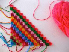 Diagonaal crochet pattern