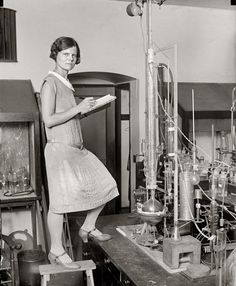 "Washington, D.C., circa 1923. ""Woman scientist."" National Photo Company Collection glass negative, Library of Congress."