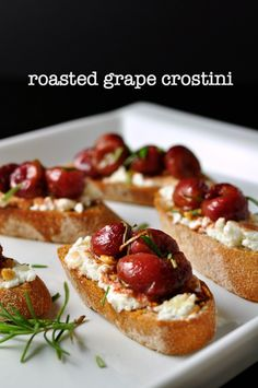 grape and goat cheese crostini roasted grape and goat cheese crostini ...