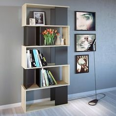 Add a mid-century modern twist to most any room with the Tvilum Twist Decorative Bookcase - Oak . The asymmetrical design instantly draws the eye with. Decor, Open Bookcase, Bookcase, Furniture, Bookcase Decor, Bookshelves, Interior Design, 4 Shelf Bookcase, Living Room Furniture