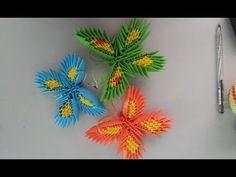 3d origami butterfly- Xếp Bướm origami 3d - poppy9011 - YouTube