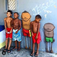 The work of Os Gemeos in Brazil.