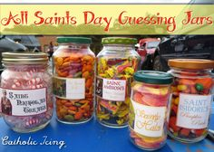 All Saints' Day Guessing Jars with free printable labels. So fun!