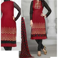 Buy Saiveera Latest arrival Black and Red Cotton Emboidered Unstiched Casual Salwar Suit/Dress Material by Saiveera Fashion, on Paytm, Price: Rs.899?utm_medium=pintrest Saiveera Fashion Is a Best Manufacturer,Exporter,Wholesaler,As well as Best and dealer,Retailar Of Designer,Embroidery Wedding Sari,Kids Lahenga Choli,Salwar Suit,Dress Material,etc.in surat Textile Market. Also MainlyFocus On Style,Choice,Fabric.So Saiveera Fashion Also Made Designer,Printed Dress Material.