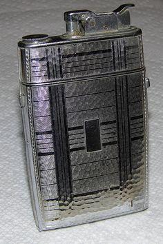Vintage Evans Combination Cigarette Lighter & Holder, Made in the USA.