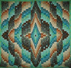 Looking for quilting project inspiration? Check out  Bargello Quilt Top by member Becky Botello.