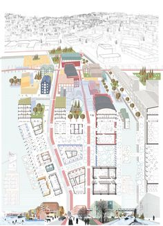 a vision for Strandveikaia – the false mirror, Europan13 Norway, Trondheim, winner