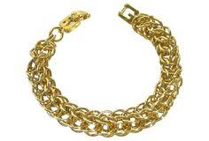 Givenchy Gold-Plated Box Link Bracelet