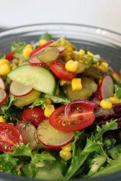Grillowanie: Sałatka do grilla Salad Recipes, Diet Recipes, Healthy Recipes, Types Of Salad, Polish Recipes, Cobb Salad, Grilling, Salads, Food And Drink