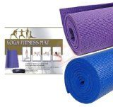 New Purple Yoga Exercise Fitness Workout Mat Physio Pilates Festivals Camping Non Slip by Zonnix UK Ltd