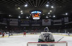 The Oklahoma City Barons beat the Utica Comets shortly into the fourth overtime period in the opening game of their American Hockey League Calder Cup playoff game at the Utica Memorial Auditorium.