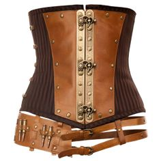 Prepare for high adventure when you wear this dramatic steampunk corset! The Adventure in an Underbust Corset flaunts a belt with an attached bullet replica to appeal to the innate thrill seeker in all of us.