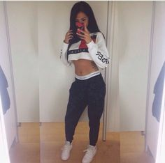 Designer Clothes, Shoes & Bags for Women Lazy Day Outfits, Dope Outfits, Fall Outfits, Summer Outfits, Fashion Outfits, Womens Fashion, Sporty Fashion, Sporty Chic, Swag Outfits