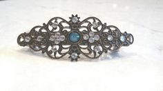 Antique bronze filigree hair clip barrette by LindasAccessories