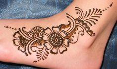 floral foot henna design by Modern Magik Body Art, via Flickr