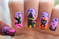 Decoración de uñas halloween - Halloween nail art