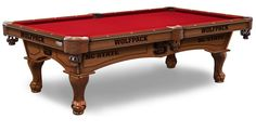 North Carolina State Wolfpack Plain Cloth Pool Table
