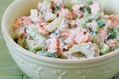 Kalyn's Kitchen®: Leftover Salmon Salad Recipe with Yogurt and Dill
