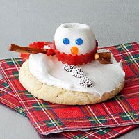 Frosty's Melting Cookies by rachelraymag: Haha adorable! #Cookies #Melting_Snowman