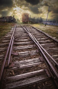 On The Railroad Tracks At 1880 Town South Dakota is a photograph by Randall Nyhof. Sunrise on the Railroad Tracks at 1880 Town South Dakota. Abandoned Train, Abandoned Houses, Abandoned Places, Train Art, Old Trains, Train Pictures, Ferrat, Train Tracks, Model Trains