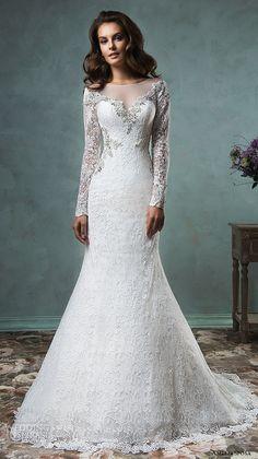 amelia sposa 2016 wedding dresses sheer bateau neckline long sleeves embroidered beautiful trumpet mermaid wedding dress tiffany