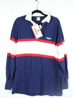 300f1632bc9 Vintage Barbarian Canada Montreal Expos Rugby Polo Shirt With Tags L/G # Barbarian #